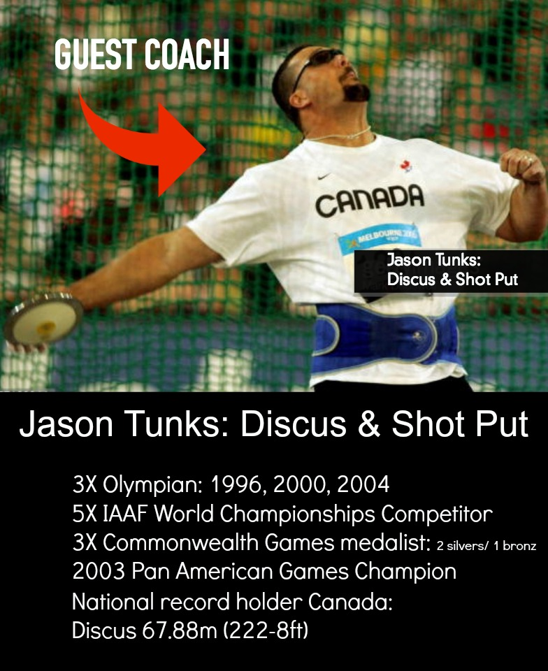 jason tunks olympian and guest coach arete throws nation camp