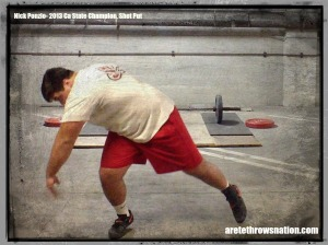 "nick ponzio Shot Put drill in the ""A""- cave"