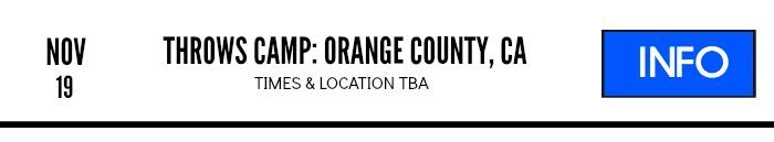 shot put discus throws camp nov 2106 orange county ca