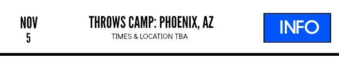shot put discus throws camp nov 2106 phoenix az