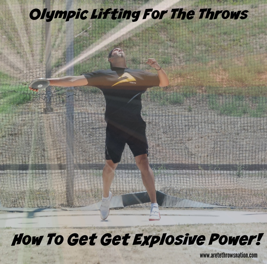 olympic lifts for the throws- Shot Put & Discus
