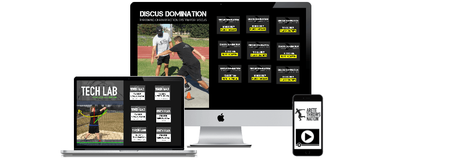 online shot put and discus technique coaching system