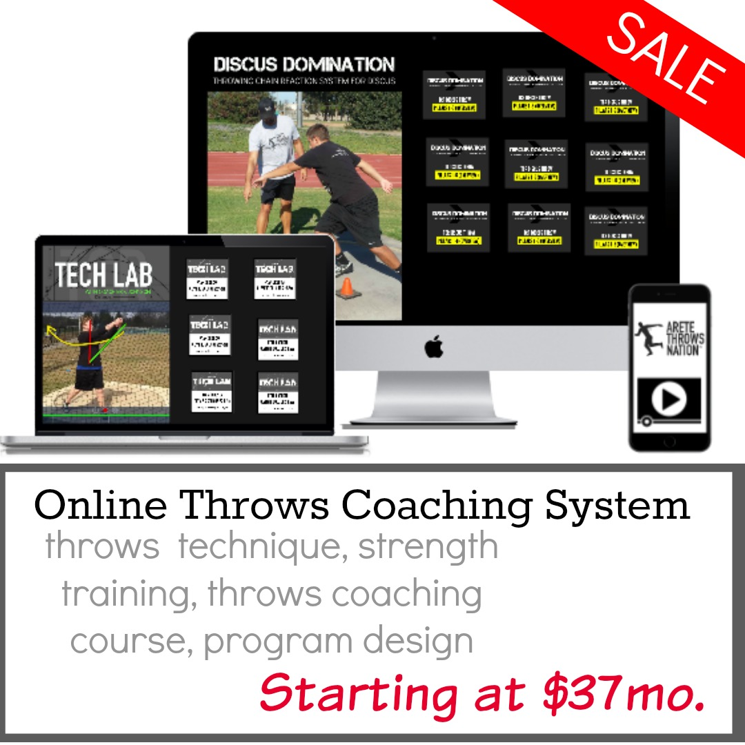 shot put discus coaching online track and field throws training