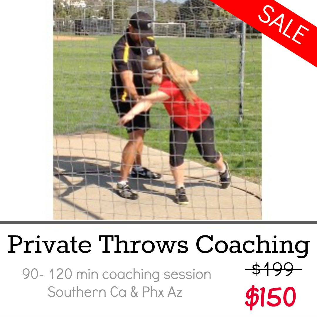 private shot put and discus throws coaching california and phoenix
