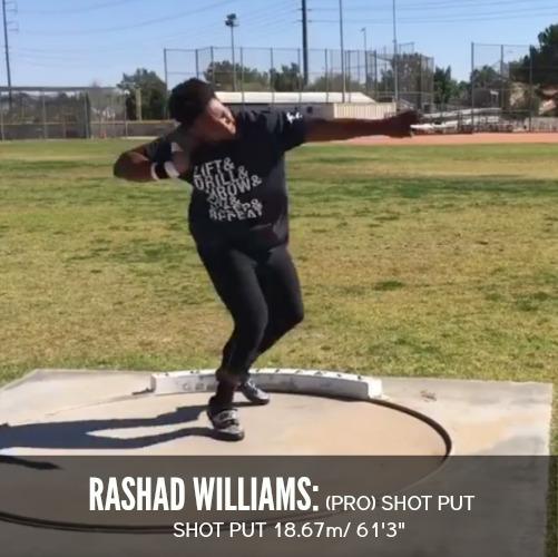 Rashad Williams shot put