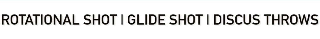 rotational shot glide shot discus throws