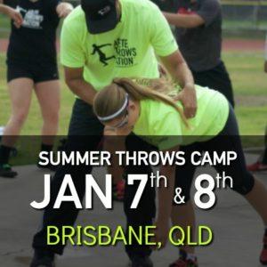 summer shot put and discus throws camp Brisbane QLD Australia