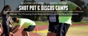 shot put and discus camps california arizona