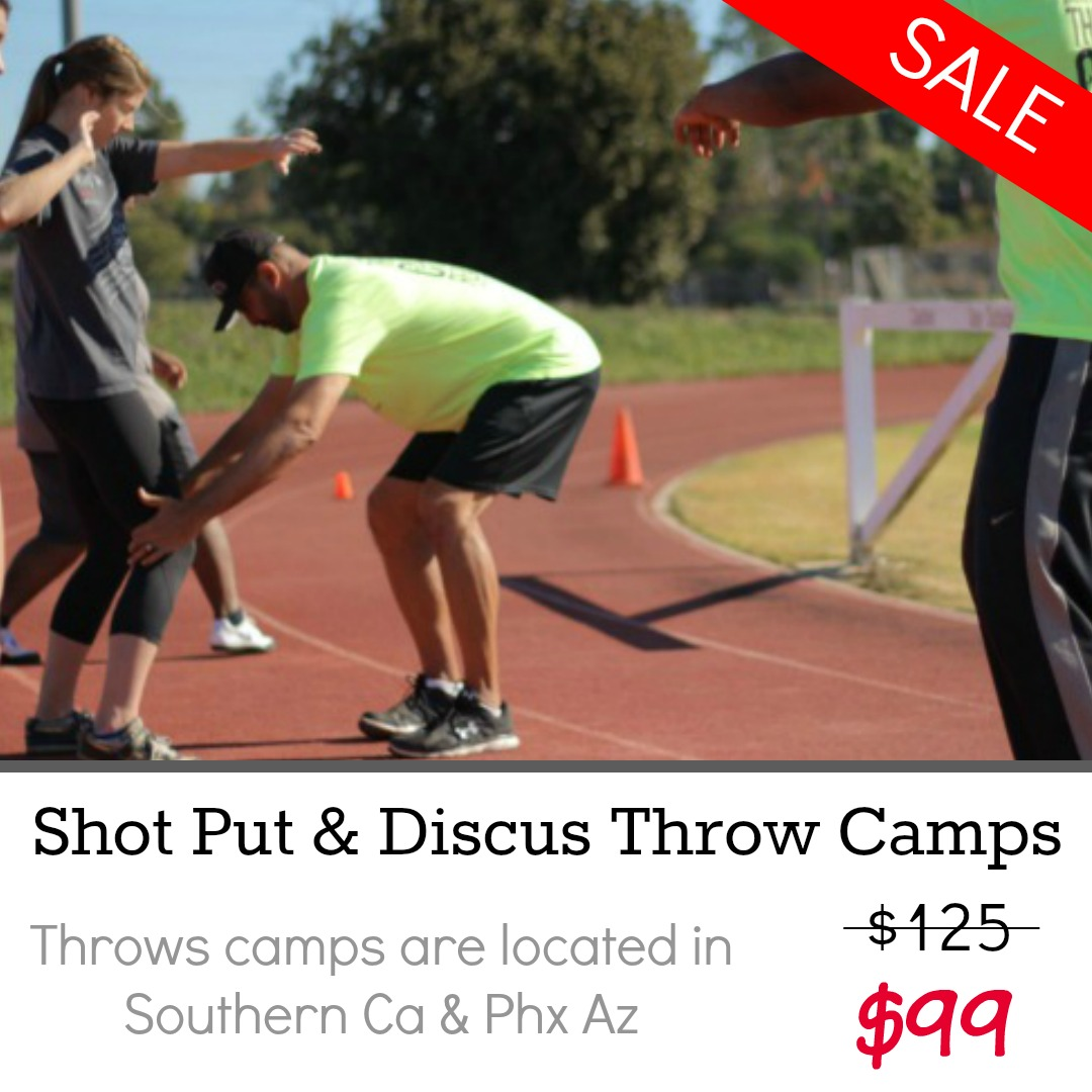 shot put discus throw camp orange county california phoenix arizona