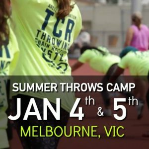 shot put and discus summer throws camp Melbourne VIC Australia