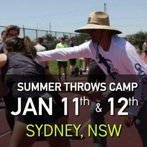 shot put and discus summer throws camp sydney nsw australia