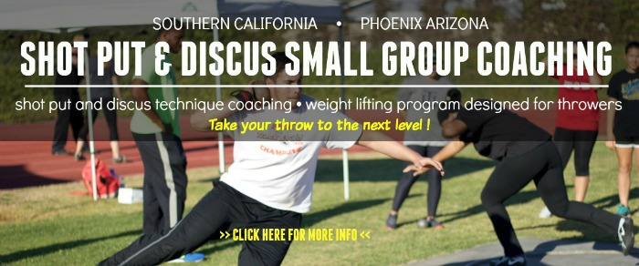 shot put discus small group coaching CA AZ