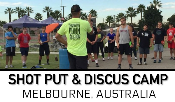 shot put discus throws Melbourne Australia
