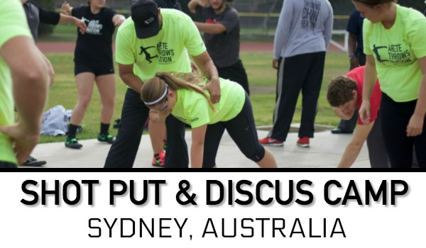 shot put discus throws Sydney Australia
