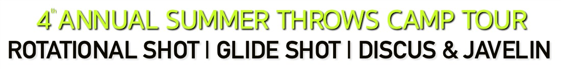 shot put glide shot discus throw javelin summer camp