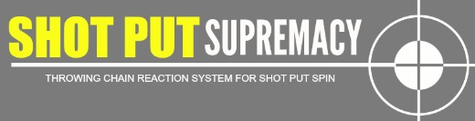 shot put supremacy yellow mini banner