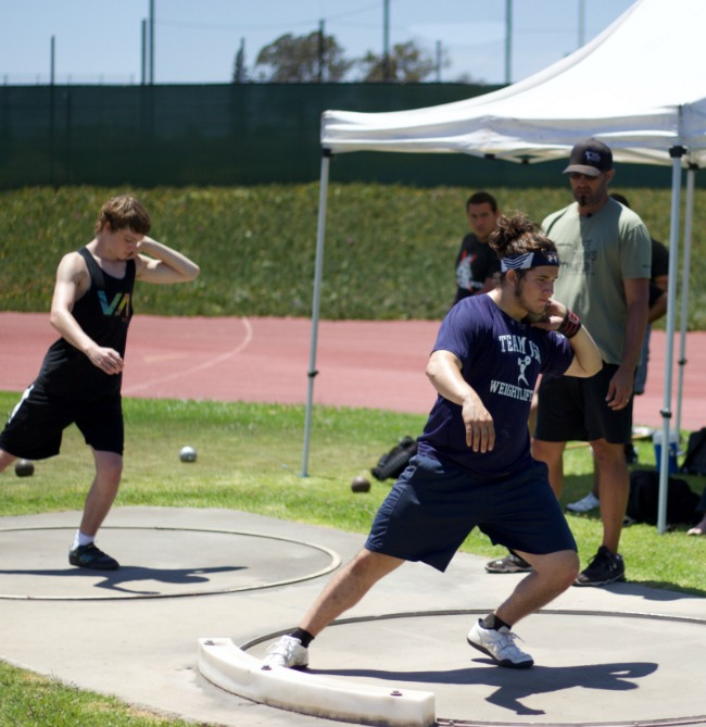 shot put glide clinic california arizona