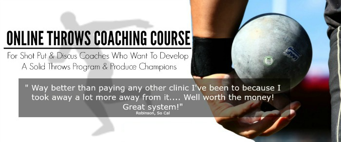 shot put and discus online coaching course