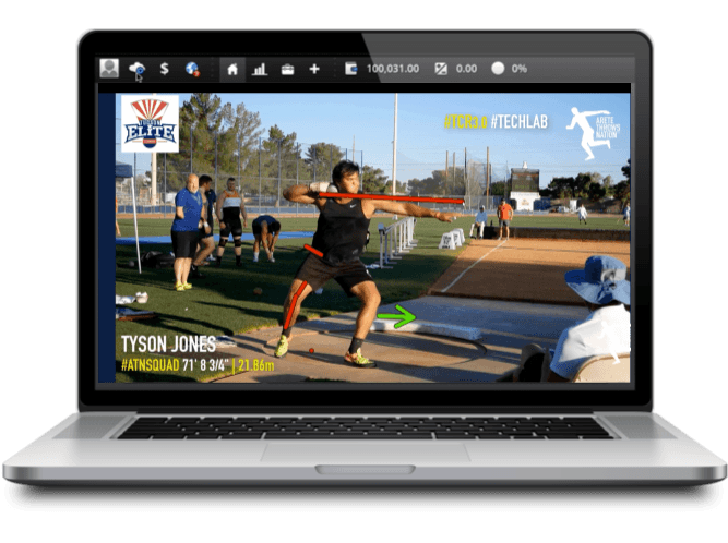 shot put and discus technical video analysis